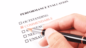 Conducting and employee review